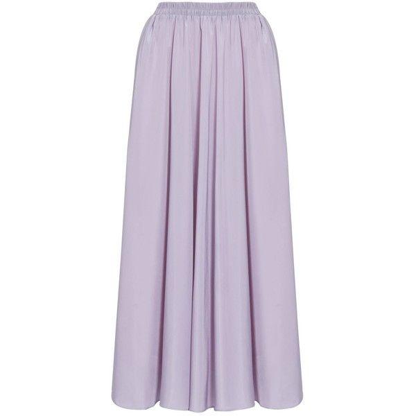 EDZ Basic Wide Flare Modest Maxi Skirt in Purple Yam (3530 DZD ...