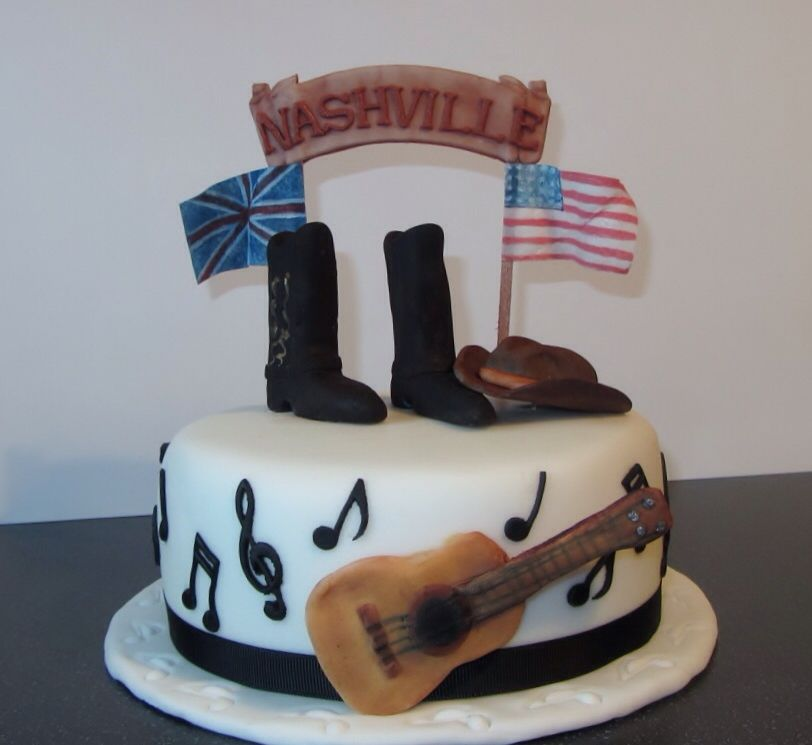 Pleasant Country Music Themed Cake Country Birthday Cakes Country Funny Birthday Cards Online Barepcheapnameinfo