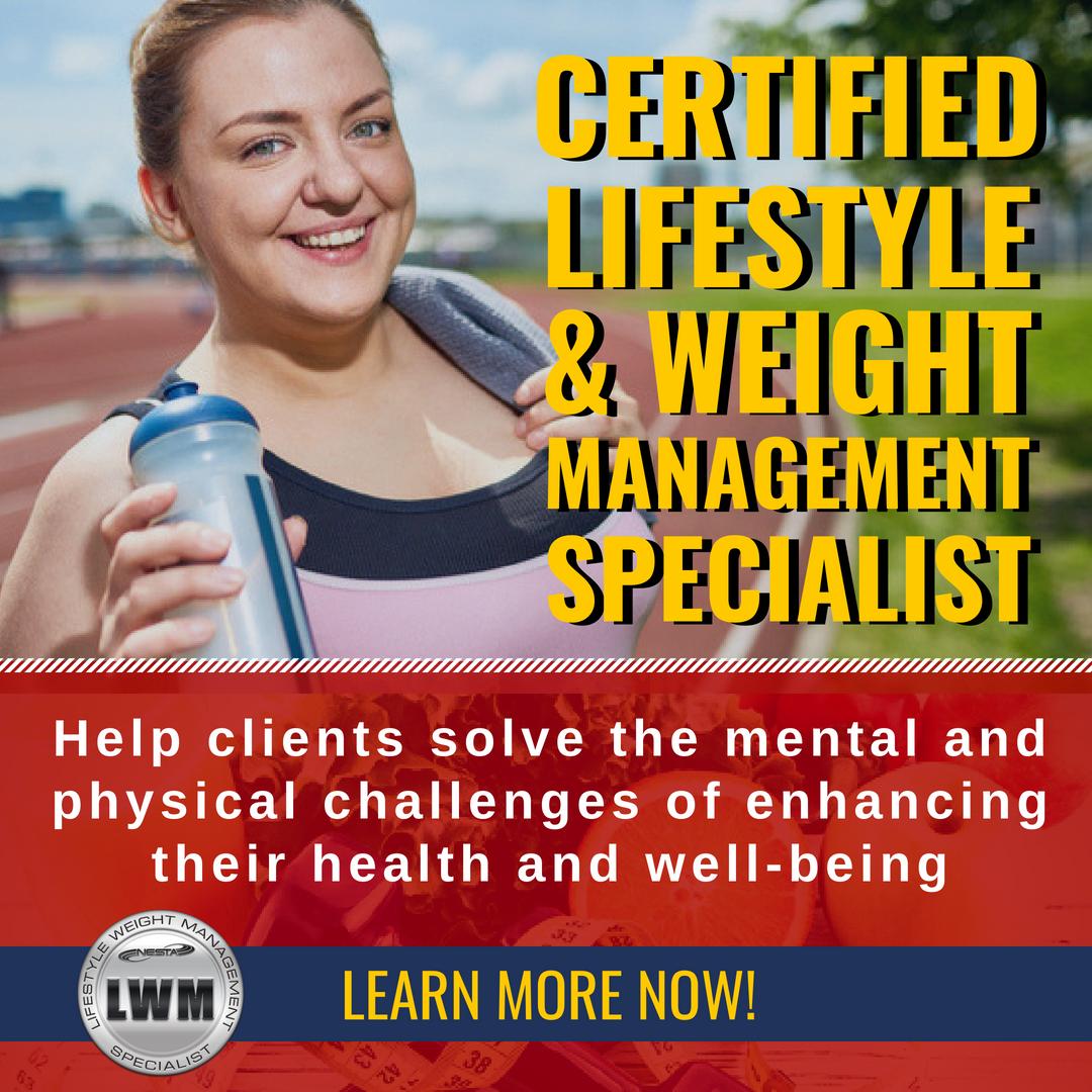 Lifestyle Weight Management Specialist Certificat Health