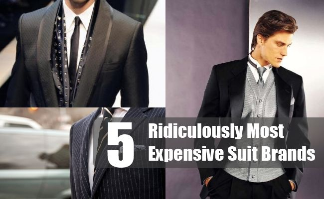 5 Ridiculously Most Expensive Suit Brands Dapper