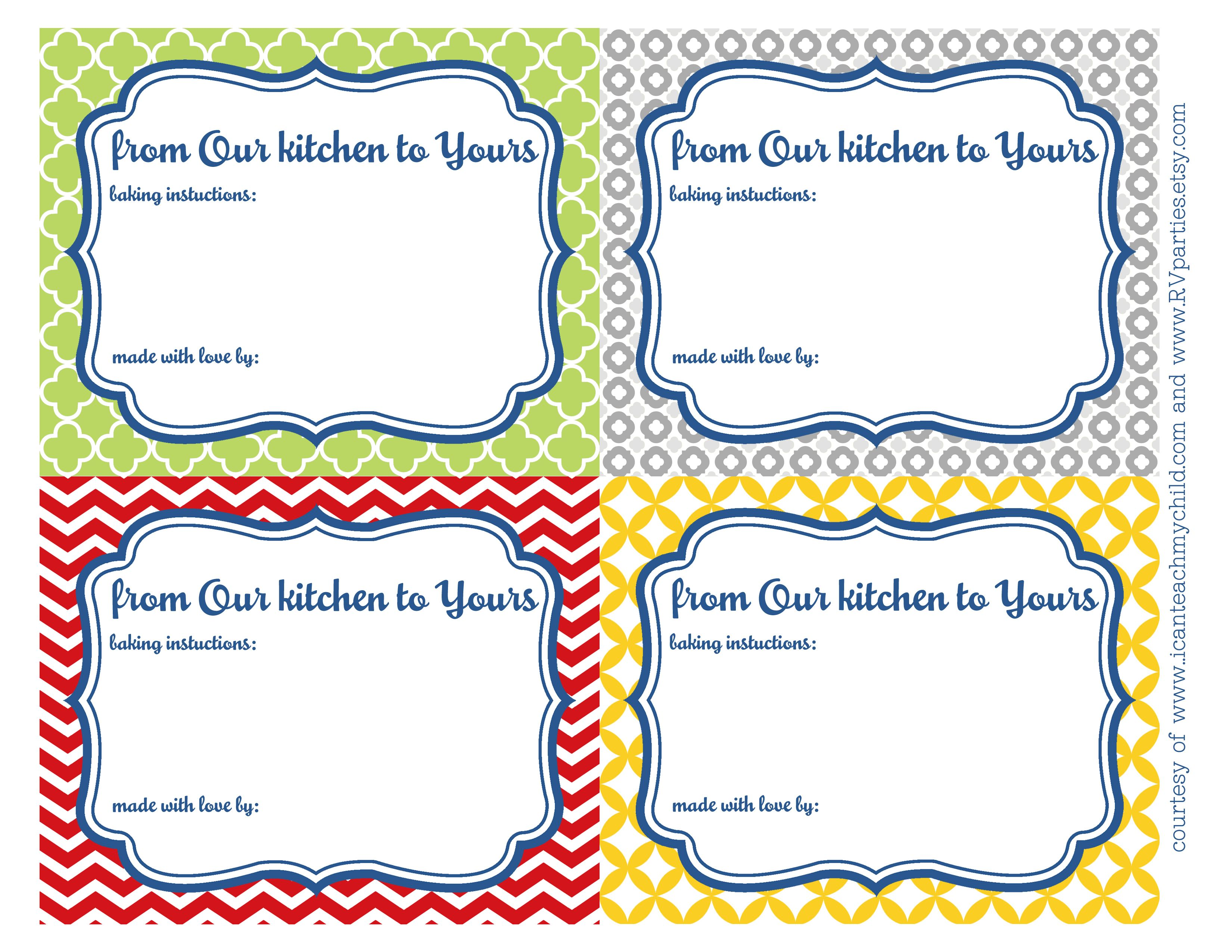 from our kitchen to yours printables printable labels on incredible kitchen designs that will make you need to repeat yours id=74576