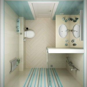 Good Looking Bathroom Colors Combination Idea With Sky Blue And White Wall  Colors With Stripes
