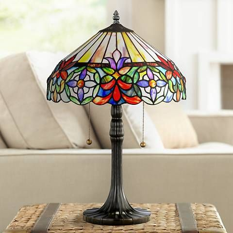 Tiffany Style Lamp Shades Enchanting Quoizel Connie Tiffanystyle Table Lamp  Style # F6422  Tiffany Decorating Design