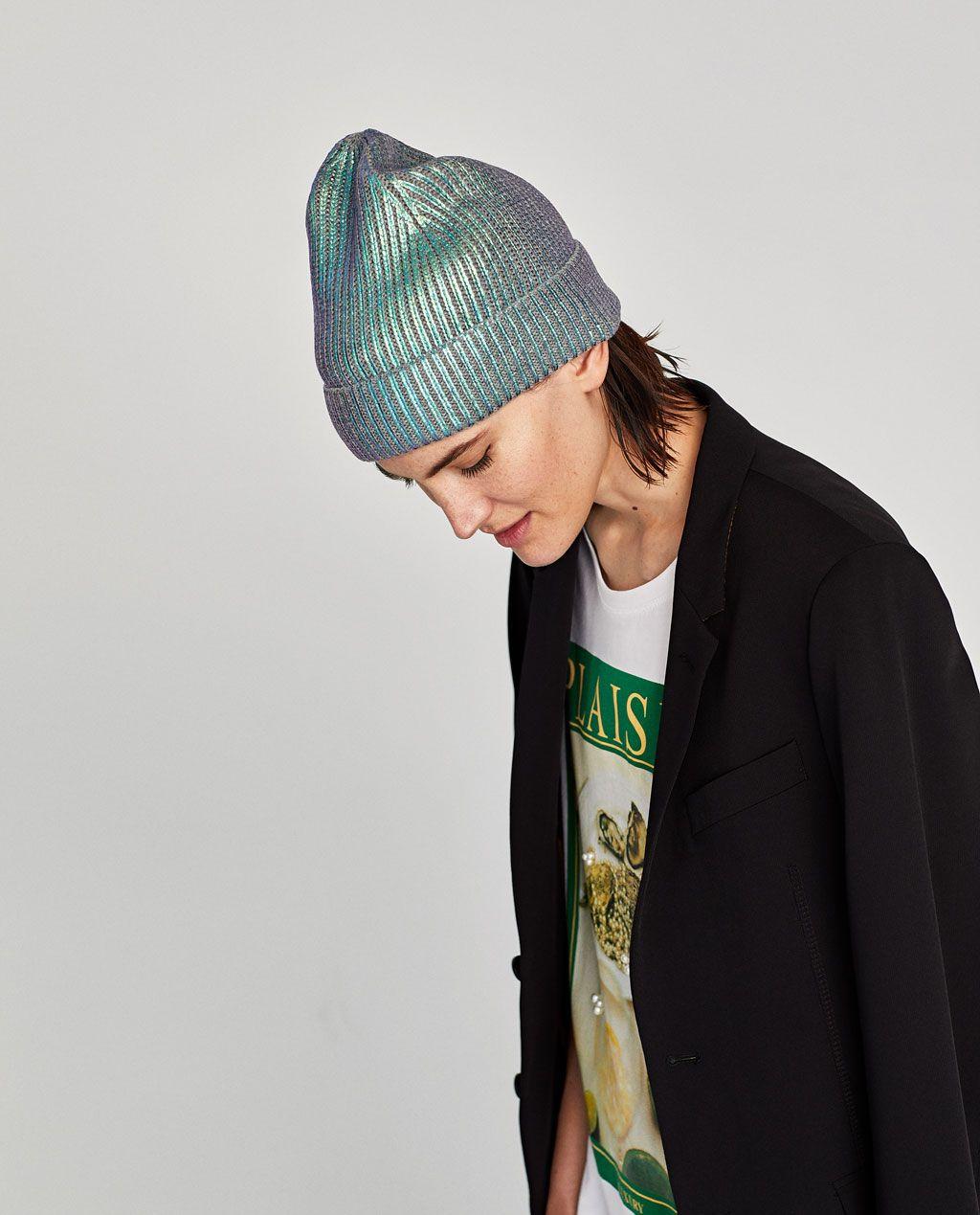 prezzo più economico vestibilità classica imballaggio forte METALLIC HAT-Hats   Beanies-ACCESSORIES-WOMAN   ZARA United ...