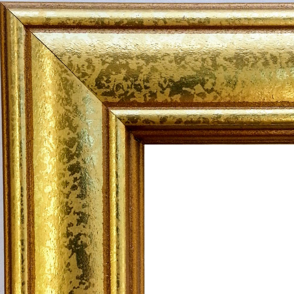 Set of 2 - 8x10 Gold Picture Frames, Wood, Antique, REAL Glass ...