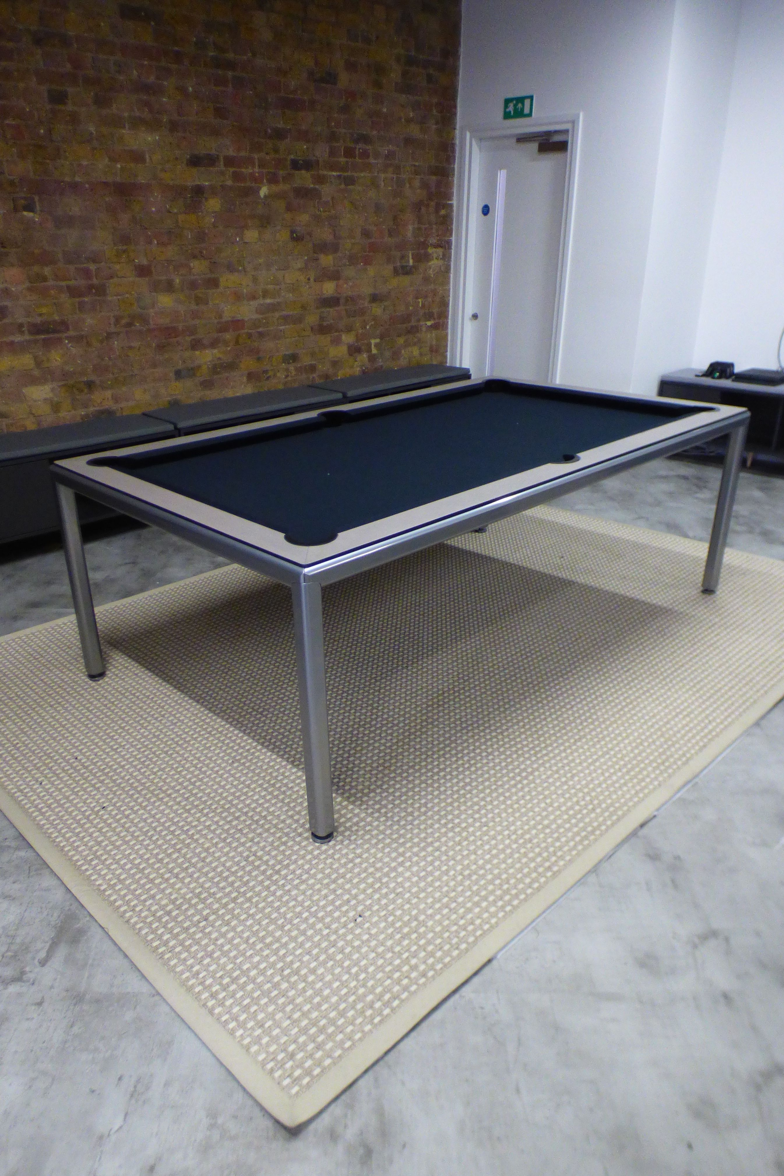 Here Is Our 7ft Slimline Pool Dining Table With A Metallic