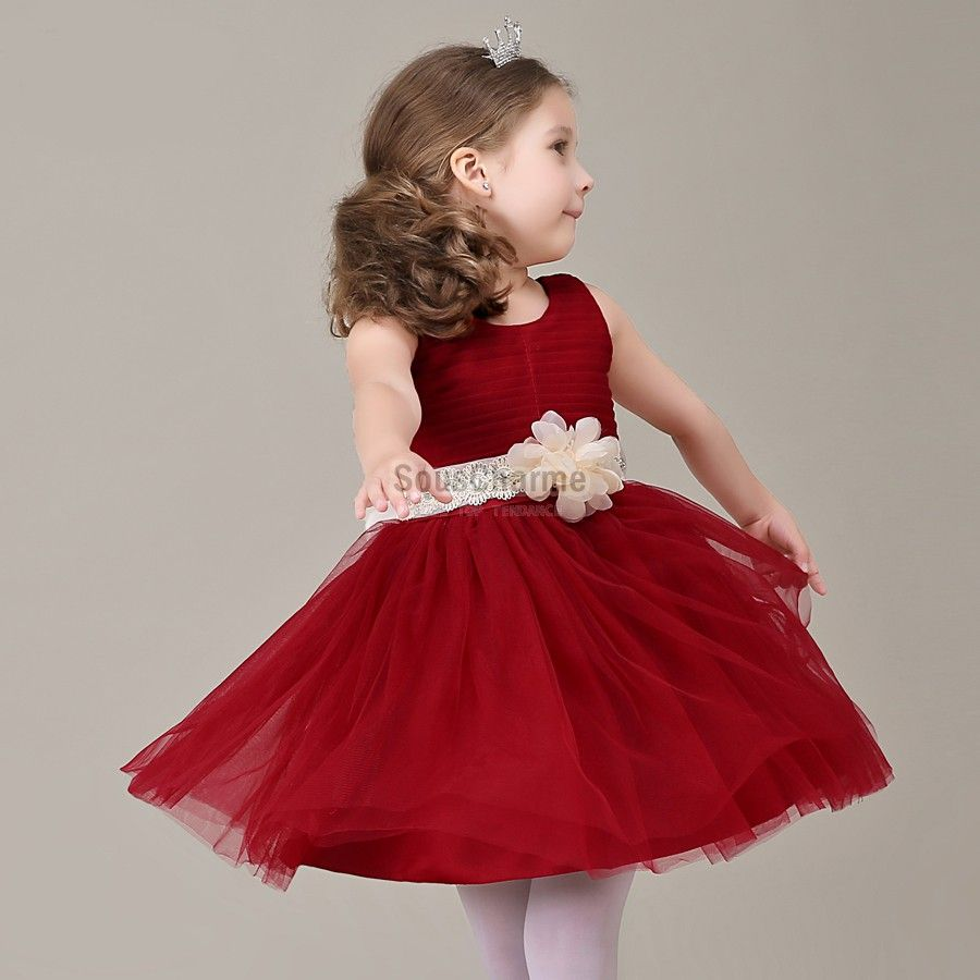 robe de communion enfant fille pas cher en tulle rouge. Black Bedroom Furniture Sets. Home Design Ideas