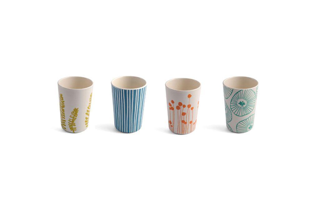 Verres Jans, design Lotta Jansdotter pour #AtomicSoda - #matea