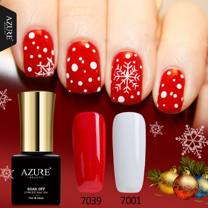 Azure Beauty Hot Christmas Series Gel UV Nail Gel Polish XMAS Gift ...