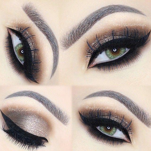 Hey My Loves Dramatic Brown Smokey Eye Makeup Emoji Tutorial Link