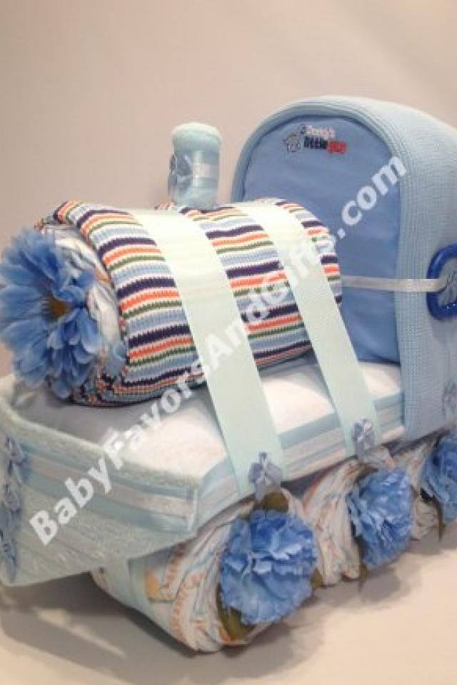 train diaper cake, baby shower gift, centerpiece or table, Baby shower invitation
