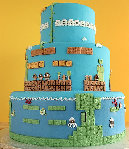 DESIGN FETISH The Ultimate Super Mario Cake More details pics