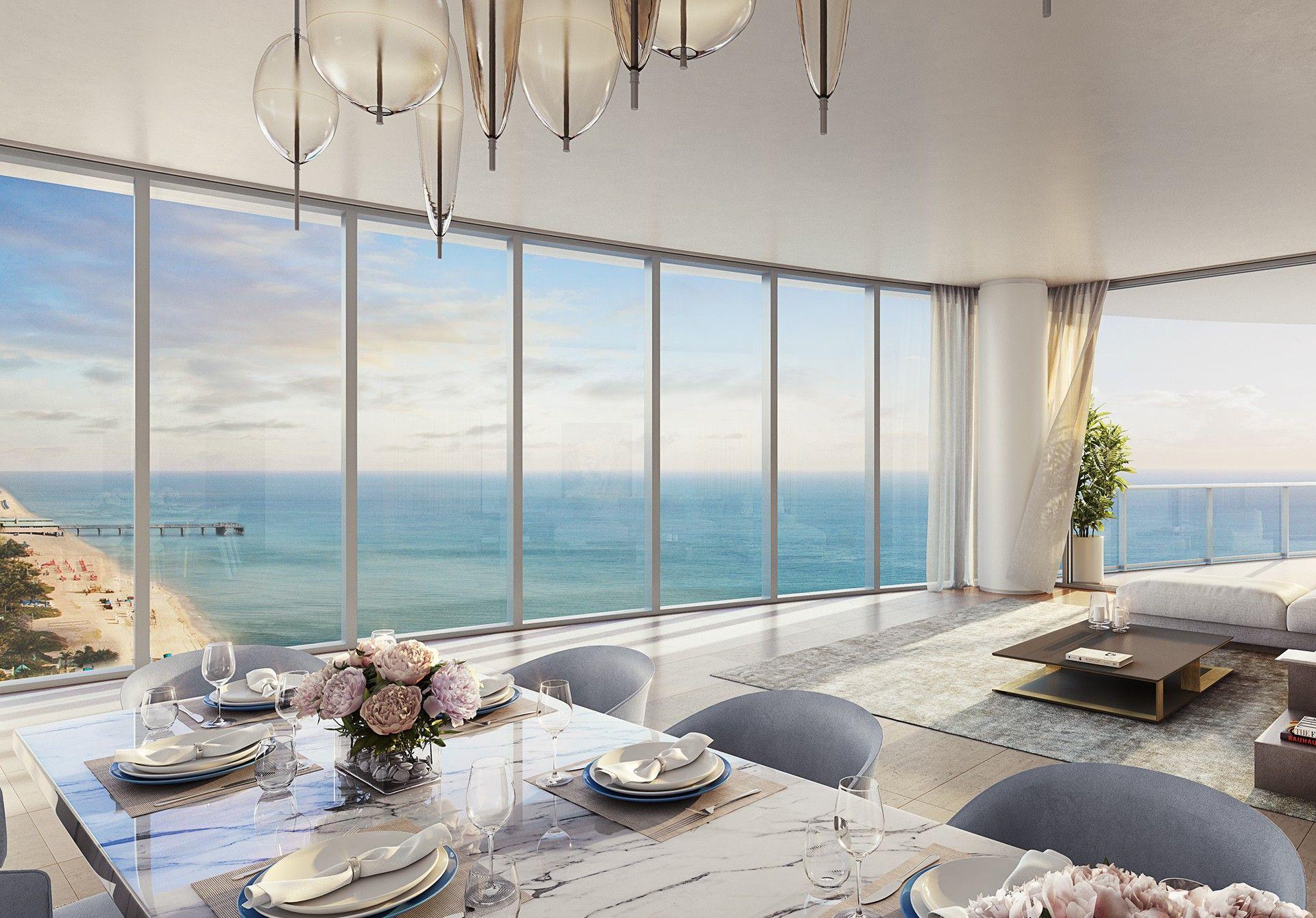 海滨迈阿密海滩住宅出售  丽思卡尔顿酒店  阳光岛海滩   Miami condo decor, Luxury beach house, Beach  house interior