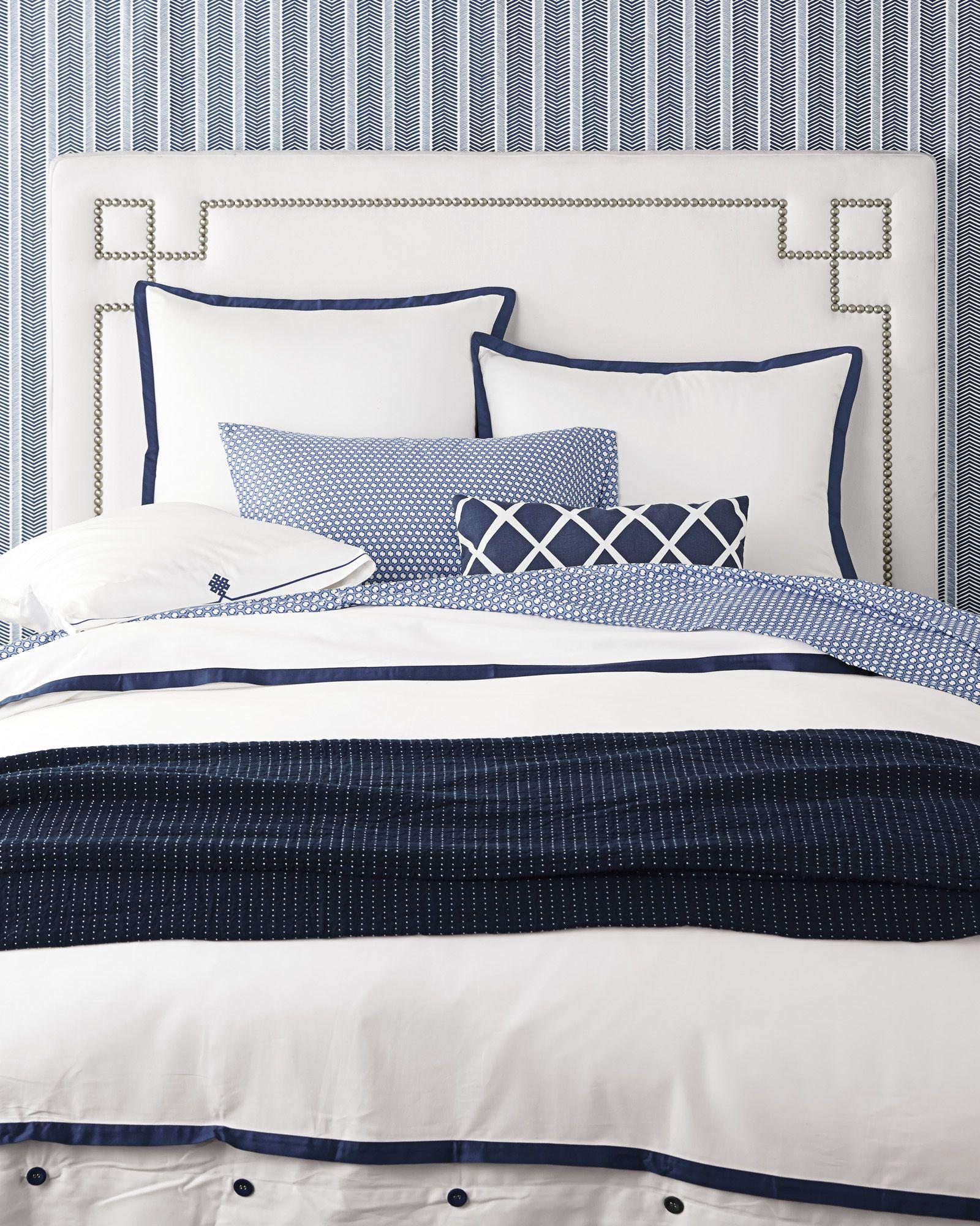 Best Border Frame Duvet Cover Navy Bdu04 K White Bedroom 400 x 300