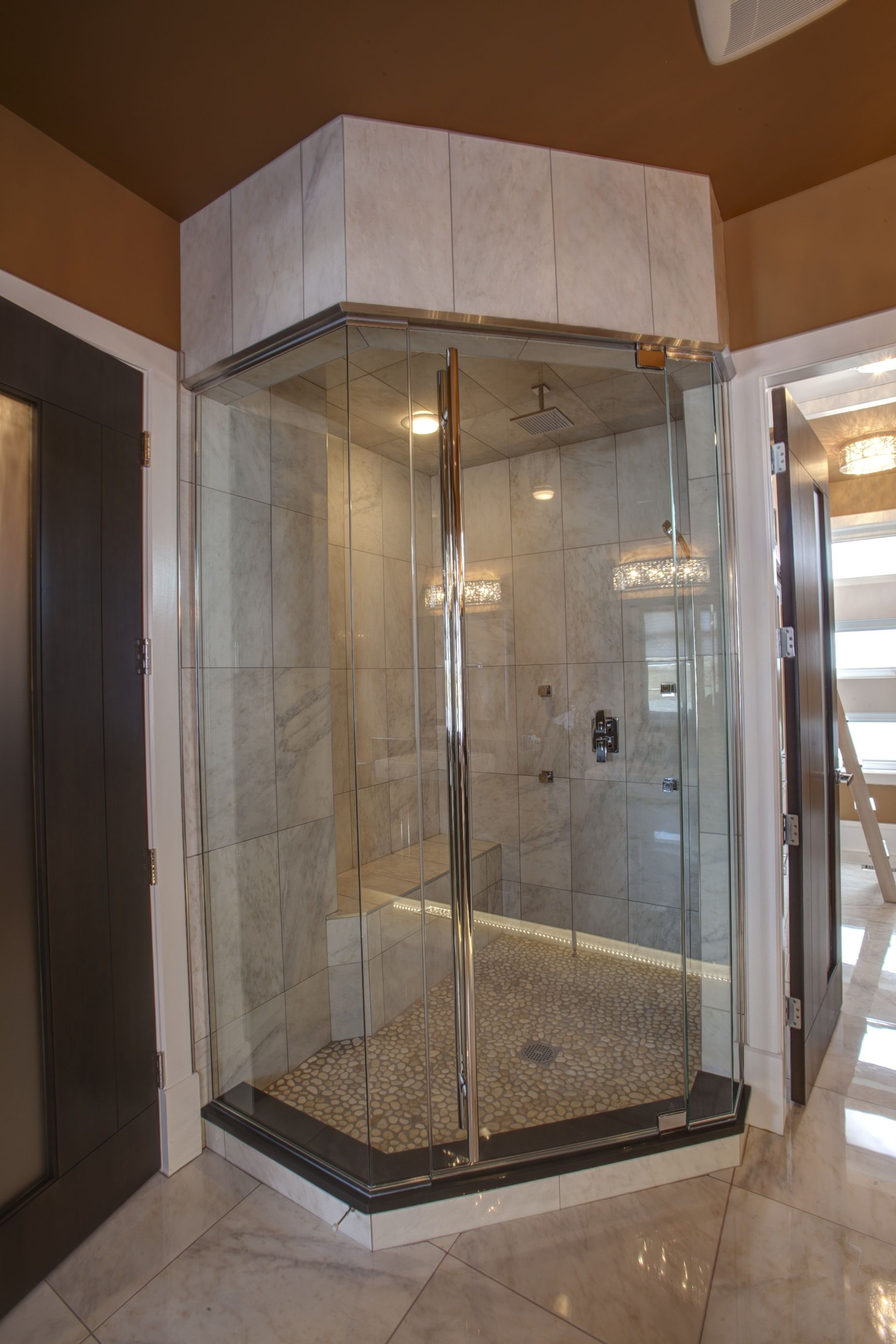 x z threshold shower bathroom sliding door dreamline frameless infinity single inch pin