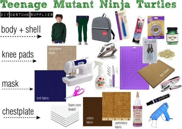DIY Teenage Mutant Ninja Turtles Costumes from Sweat Pants - Hydrangea Hippo