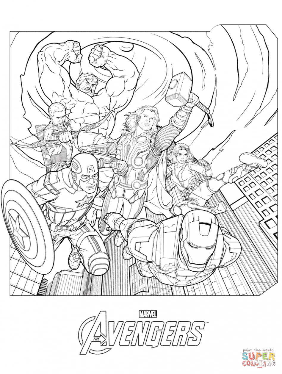 Coloring Pages Knockout Avengers Coloring Page: Marvel\'s The ...