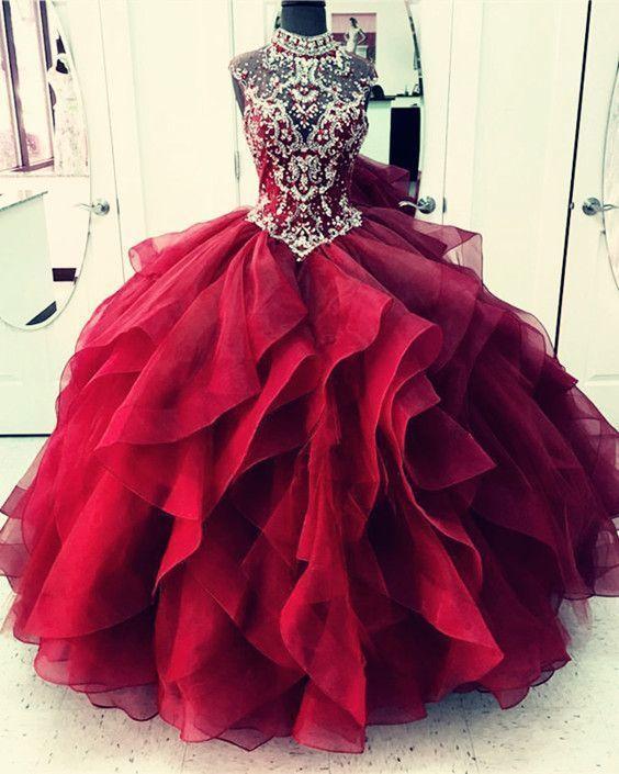 cbefe0836aa Royal Blue Organza Skirt Shine High Neck Quinceanera Dresses APD2860 - SheerGirl  Quinceanera Dresses