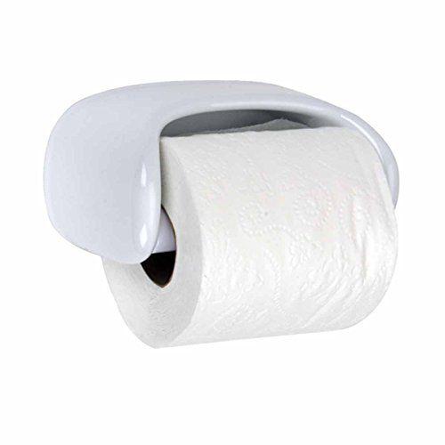 Toilet Paper Holder White Ceramic Porcelain Tissue Holder