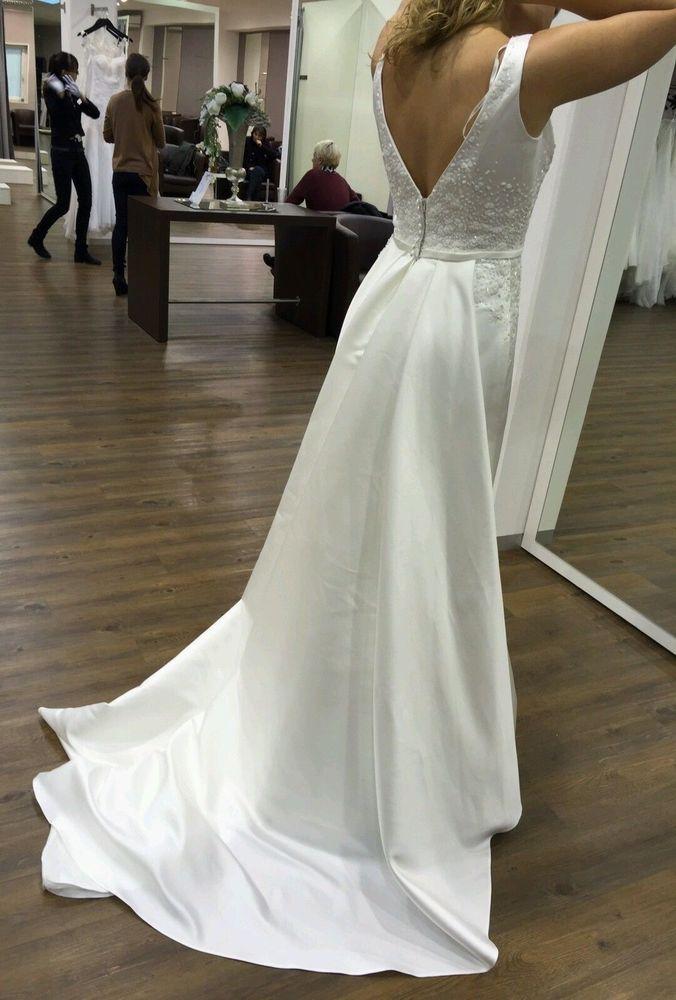 Das Kleid wurde einmal auf meiner eigenen Hochzeit getragen. Das Kleid kann gerne auch live angesehen und anprobiert werden. Bei Bedarf habe ich auch ein passendes Bolero der Marke Emmerling. Klassisches Etuikleid aus Duchesse-Satin mit U-Boot-Ausschnittvorne und einem tiefen V-Ausschnitt am Rücken. | eBay!