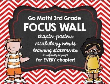 Go Math 3rd Grade Focus Wall Teaching Pinterest Math Go Math