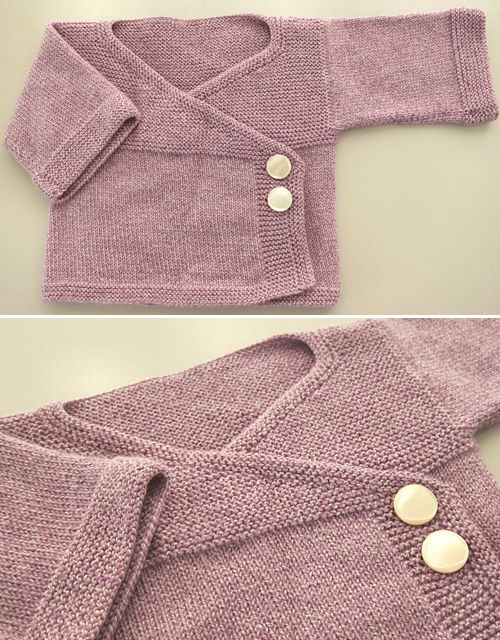 Baby Kimono - Free Knitting Pattern  #freeknittingpatterns