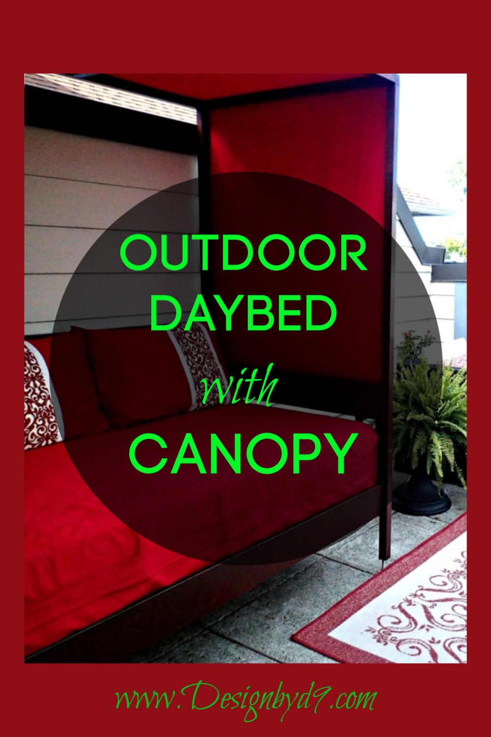 Outdoor Daybed | Outdoor daybed, Daybed canopy, Outdoor ...