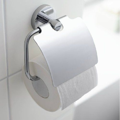 Angle Simple G2300 Stainless Steel Toilet Paper Holder Single Roll With Cover Chrome Angle Simpl Toilet Paper Holder Toilet Roll Holder