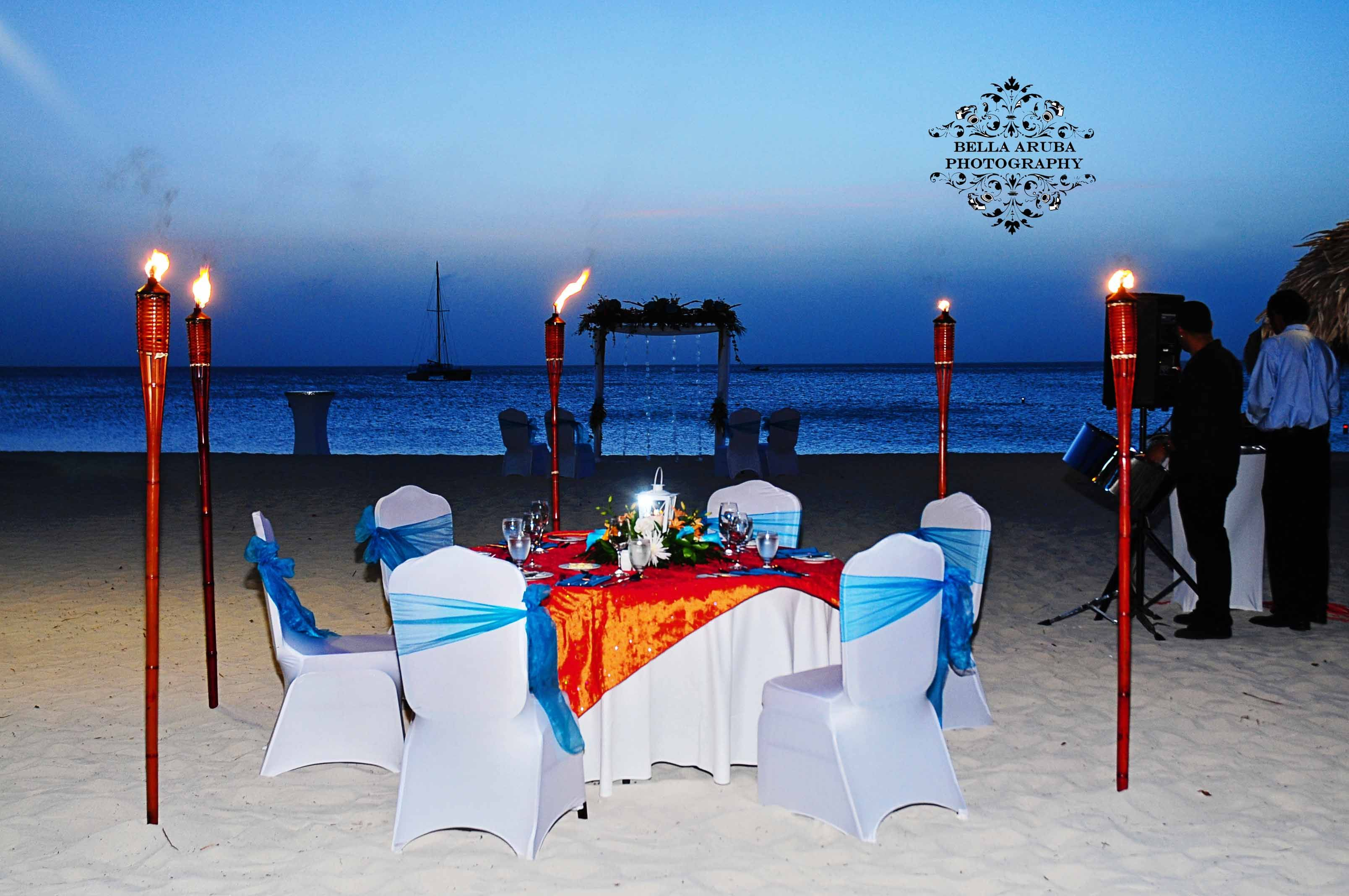 a beautiful setup at radisson aruba resort | hilton aruba
