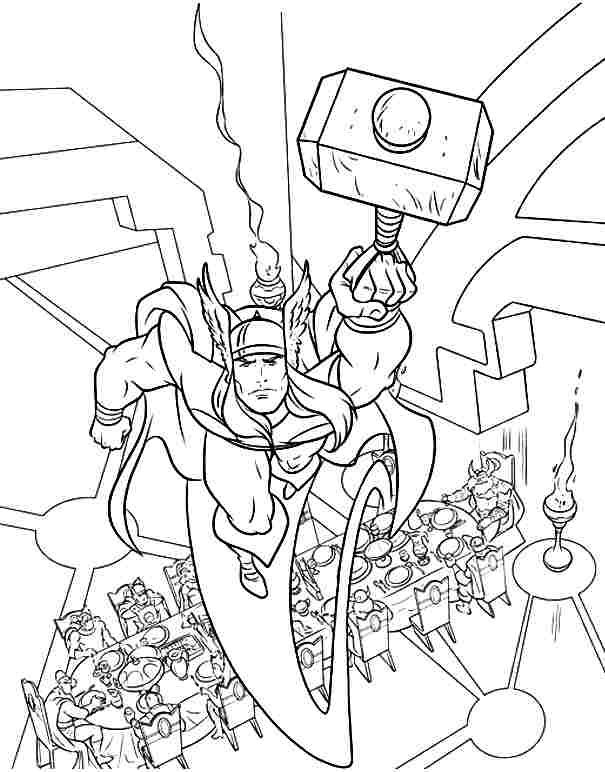 Free Printable Superhero Thor Colouring Pages For Toddler ...