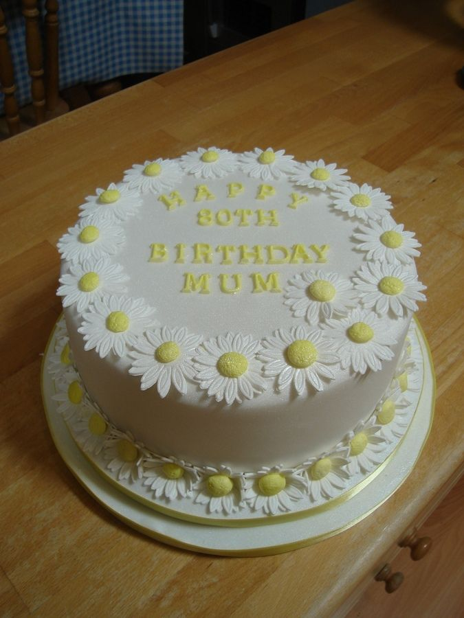 Astonishing Daisy Cake Taart Funny Birthday Cards Online Alyptdamsfinfo