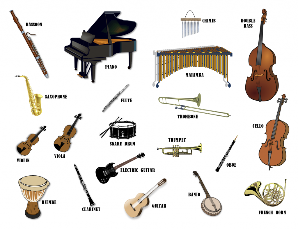 Musical Instruments We Play In Our Classes At Tlb Music