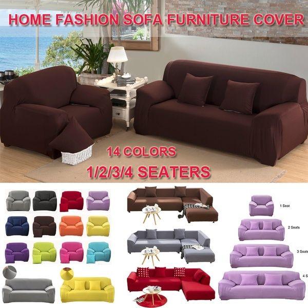 1 4 Seaters Fashion Recliner Sofa Covers Retro Recliner Sofa Cover Soft Couch Slipcovers 14 Colors Slip Covers Couch Sofa Covers Single Seater Sofa