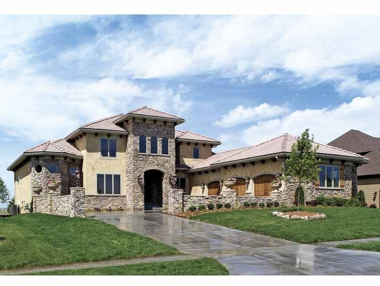 Eplans Mediterranean House Plan - Tuscan-Style Home - 3687 Square Feet and 4 Bedrooms from Eplans - House Plan Code HWEPL63309