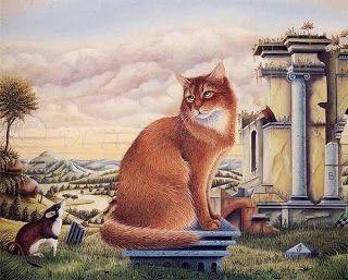 Au Fil Des Pages ...: Les chats de Bernard Vercruyce
