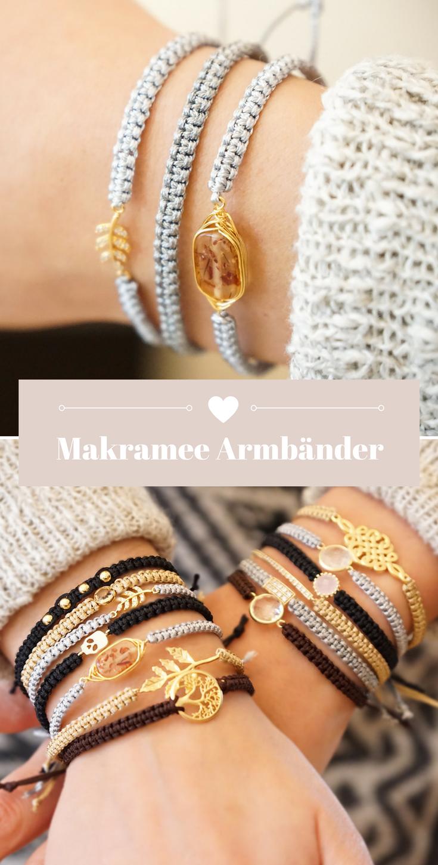 Edle Makramee Armbänder, Handgeknüpft mit viel Liebe mit der beliebten Knüpft…