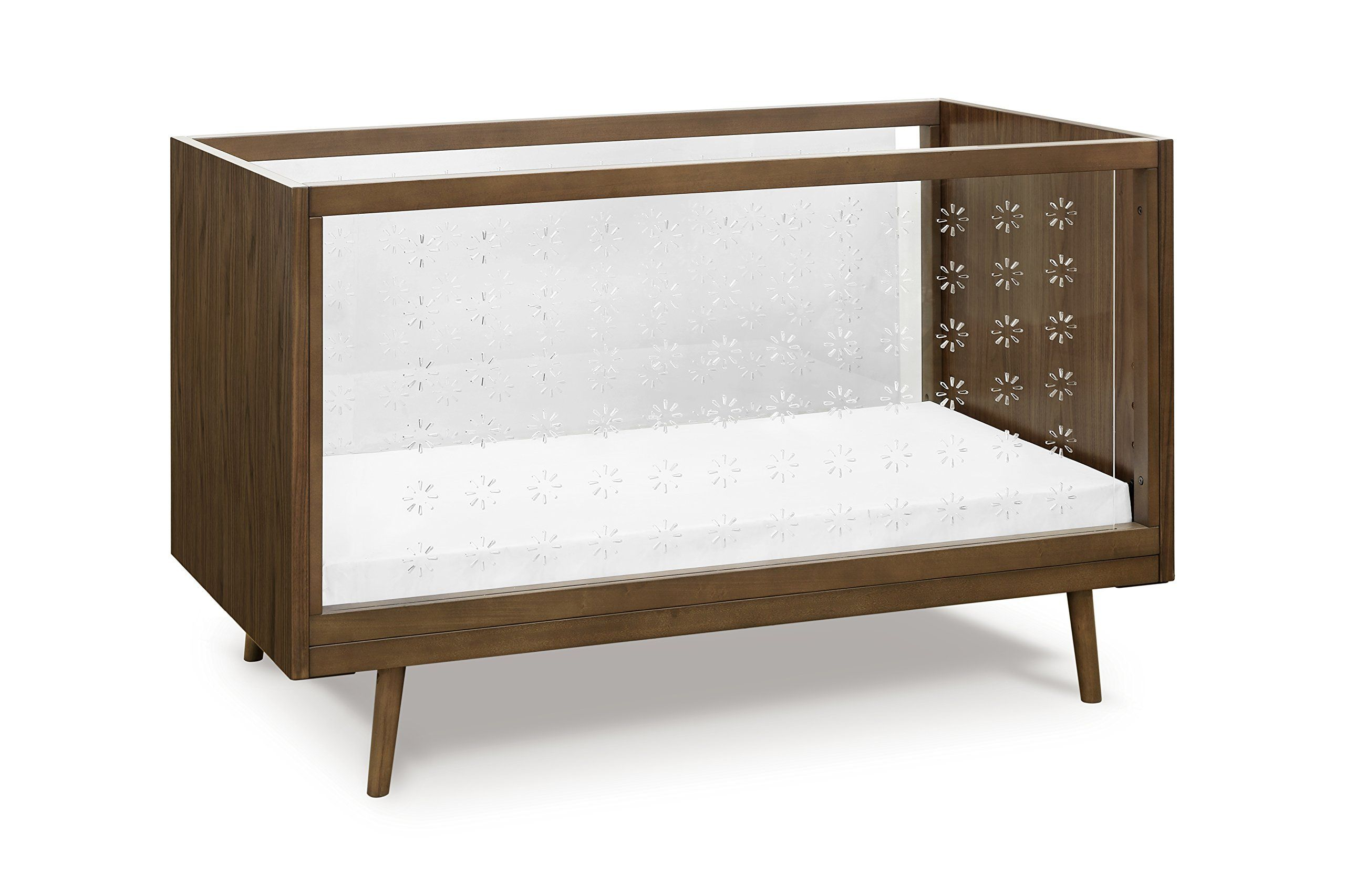 ubabub nifty clear in crib walnut clear acrylic sides with  - explore contemporary cribs convertible crib and more
