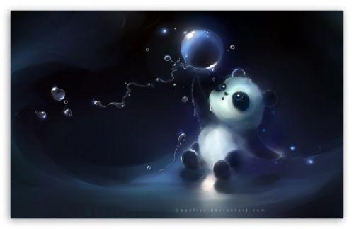 Panda Loves Bubbles Hd Desktop Wallpaper Panda Background Animal Wallpaper Baby Animals