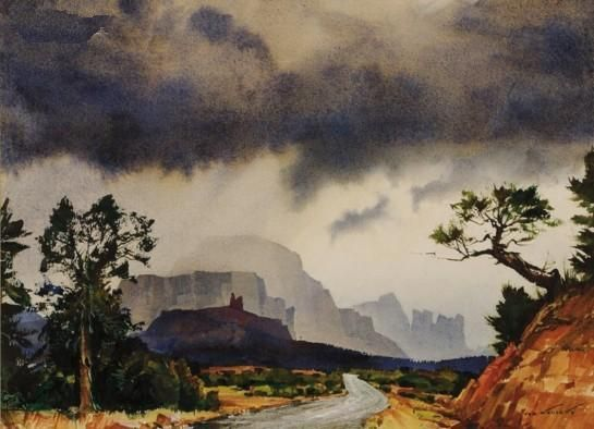 Names Of American Watercolor Artist Ted Kautzky Famous Artist