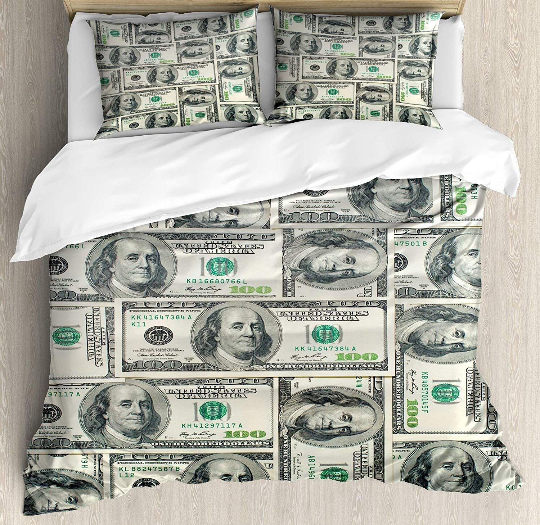 Usophia Money Twin Size 4 Pieces Bed Sheets Set Petagadget Duvet Cover Sets Duvet Covers Queen Size Duvet Covers