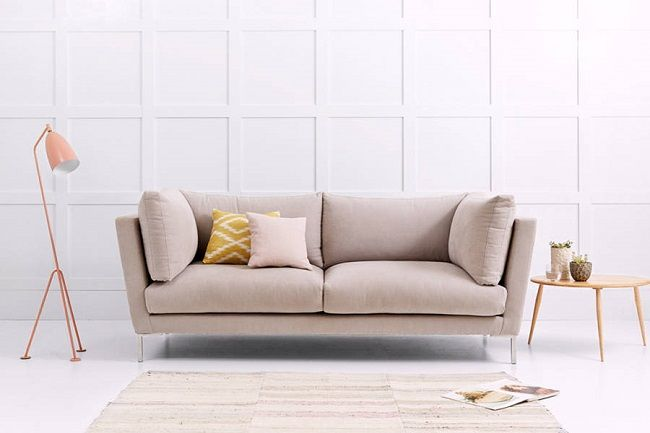 Love Your Home Angelina Pale Pink Fabric Sofas
