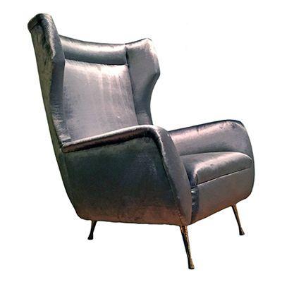 Mid Century Modern Wingback Chair