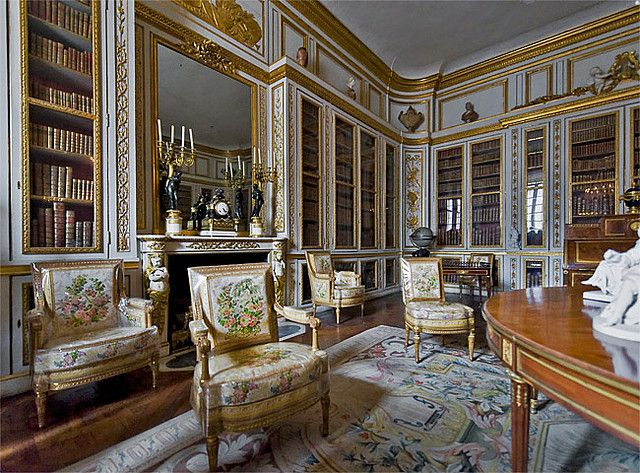 Biblioth que de louis xvi versailles appartements du for Chambre louis xvi versailles