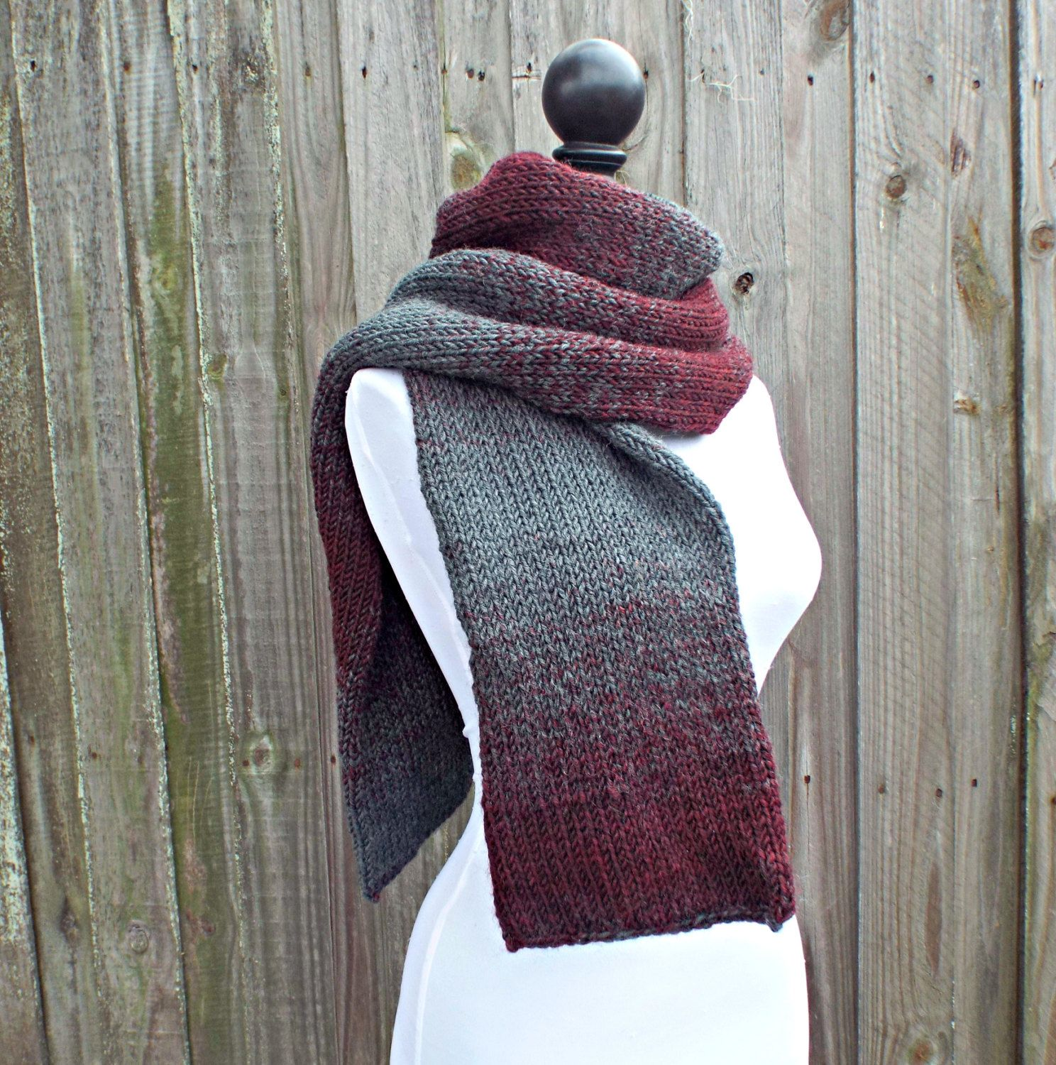 Double knit scarf oxford grey and claret wine scarf mens scarf double knit scarf oxford grey and claret wine scarf mens scarf womens scarf bankloansurffo Image collections