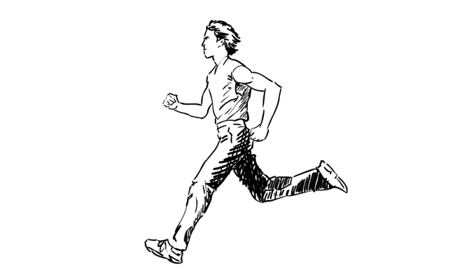 How To Draw A Man Running Person Drawing Sketchbook Challenge Human Sketch