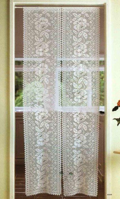 1 423x700 164kb Filet Pinterest Crochet Curtains