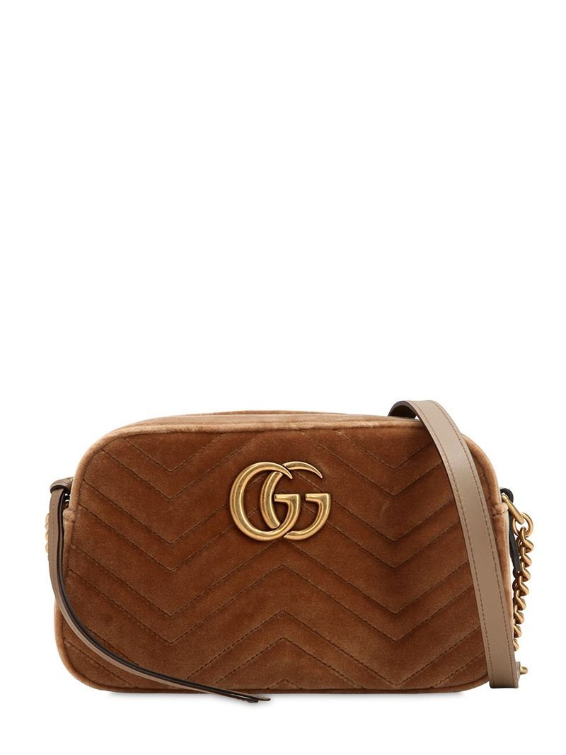 506aeefa4 GUCCI - SMALL GG MARMONT VELVET CAMERA BAG - BEIGE | Luxury lust in ...