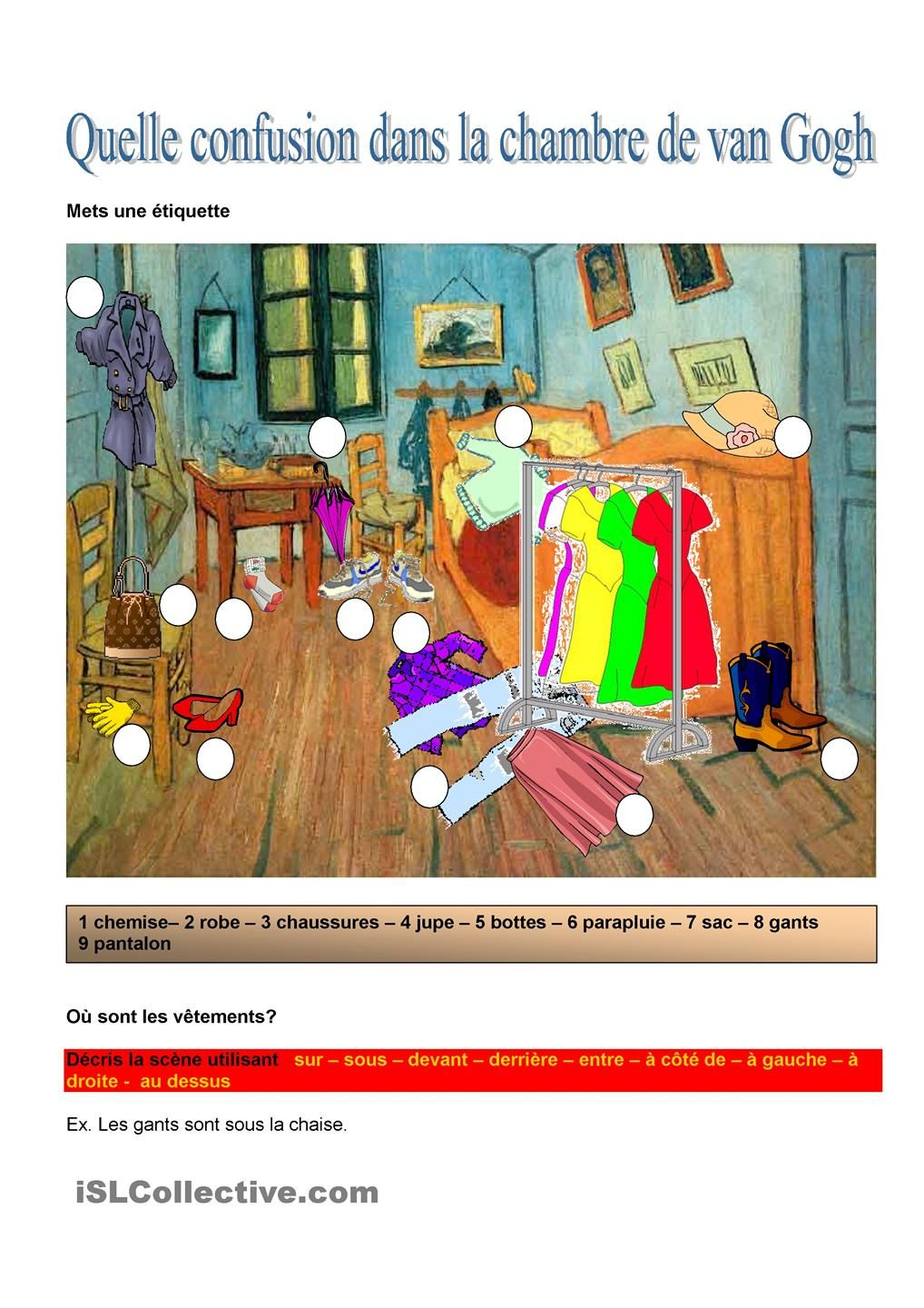 Quelle Confusion Dans La Chambre De Van Gogh | L´oral | Pinterest |  Learning French, French Resources And French Teacher