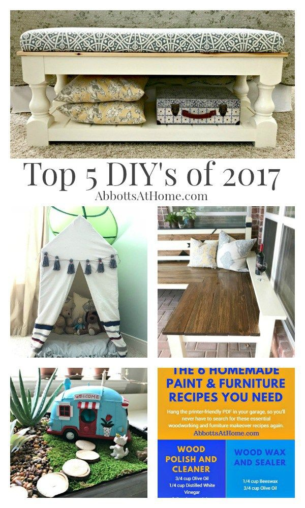 My Top Diy Projects In 2017 And A Peek At 2018 With Images