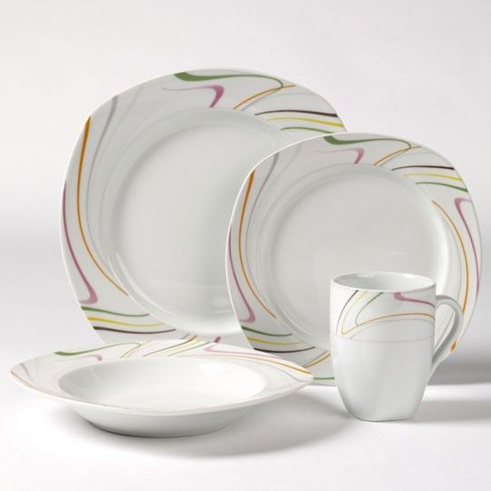 Tabletops Gallery At Kohlu0027s   This Tabletops Gallery Sicily Dinnerware Set  Features A Place Setting For Four In A Free Flowing Line Pattern And  Porcelain ...